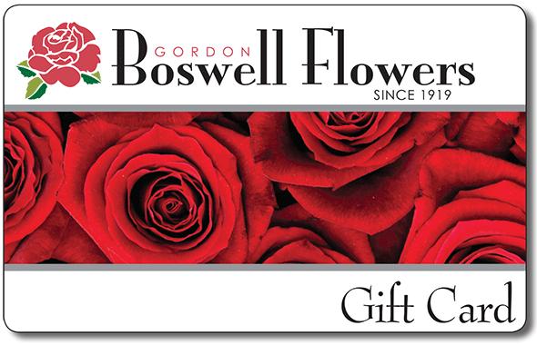 Gordon Boswell Flowers Gift Cards